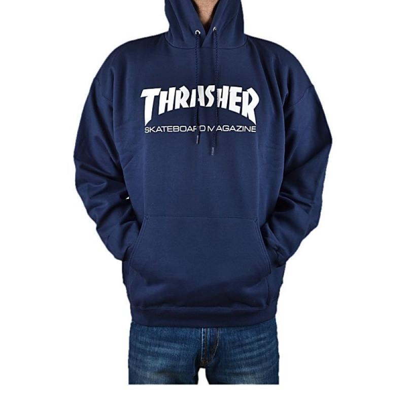 thrasher hometown navy hooded skateshop 24 7 online. Black Bedroom Furniture Sets. Home Design Ideas