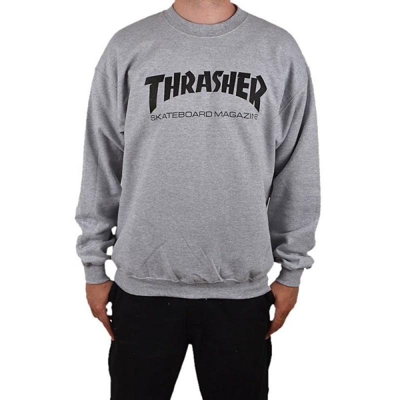 thrasher hometown grey mottled sweater skateshop 24 7. Black Bedroom Furniture Sets. Home Design Ideas