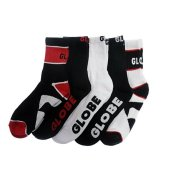 Globe Destroyer red Pack of 5 Socks